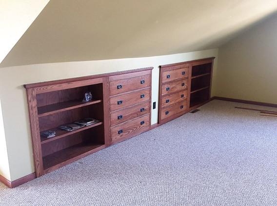Oak Built In Dresser