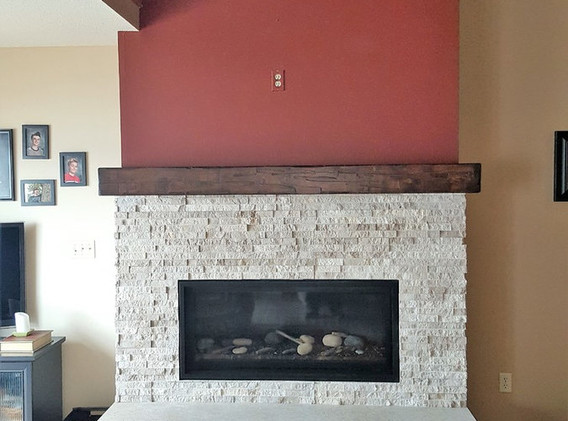 Maple Faux Beam Finished in Java