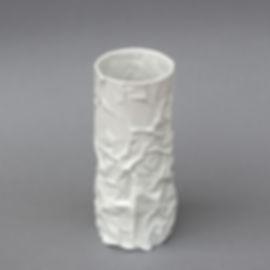 Elodie_tanguy_Porcelaine_Froissés_Vase (