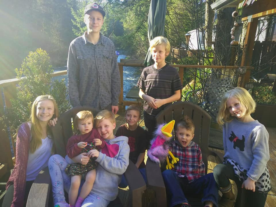 All eight grandkids