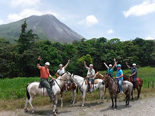 Horseback riding excursion at the base of the Arenal Volcano