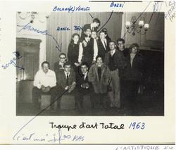 avec la Troupe Art Total 1963