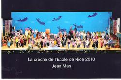 avec la crèche de l'Ecole de Nice