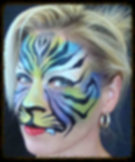 tiger face painted by Gypsy Janine