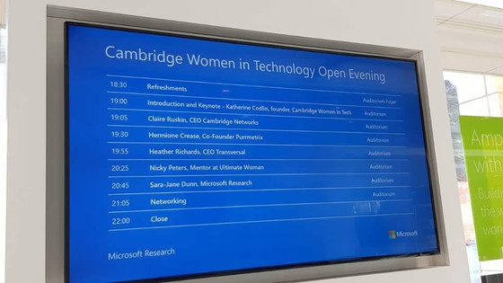 Cambridge Women in Technology – Where we are today
