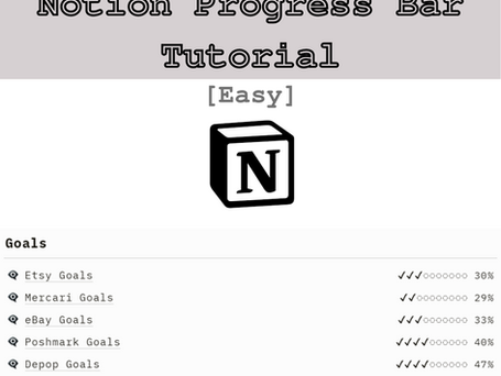 How to Create a Notion Progress Bar