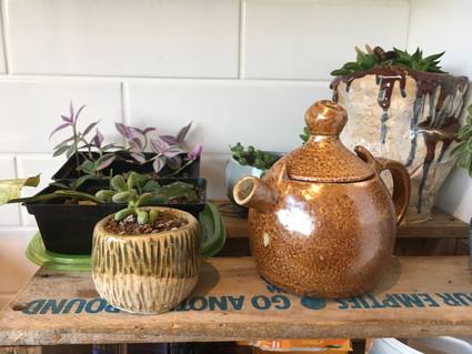 Teapot and Planters