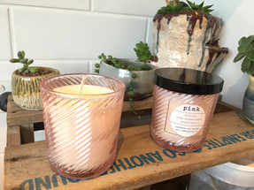 PINK scented candles