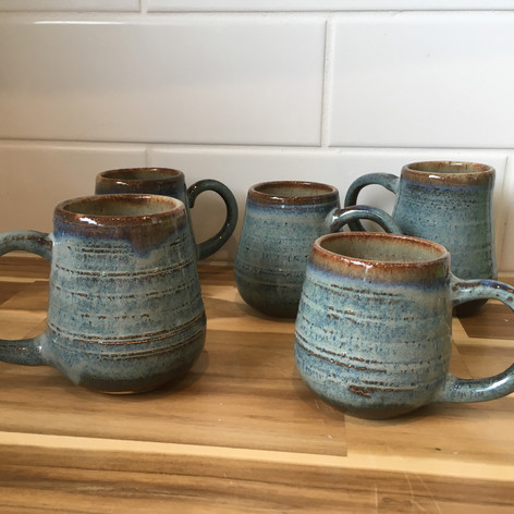 Blue Cream mugs