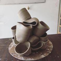 WIP sculptural piece