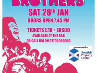 Motown Brothers, SAT 28 JAN