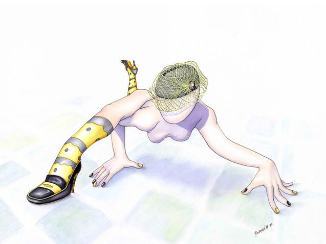 Wasp On The Bathroom Floor