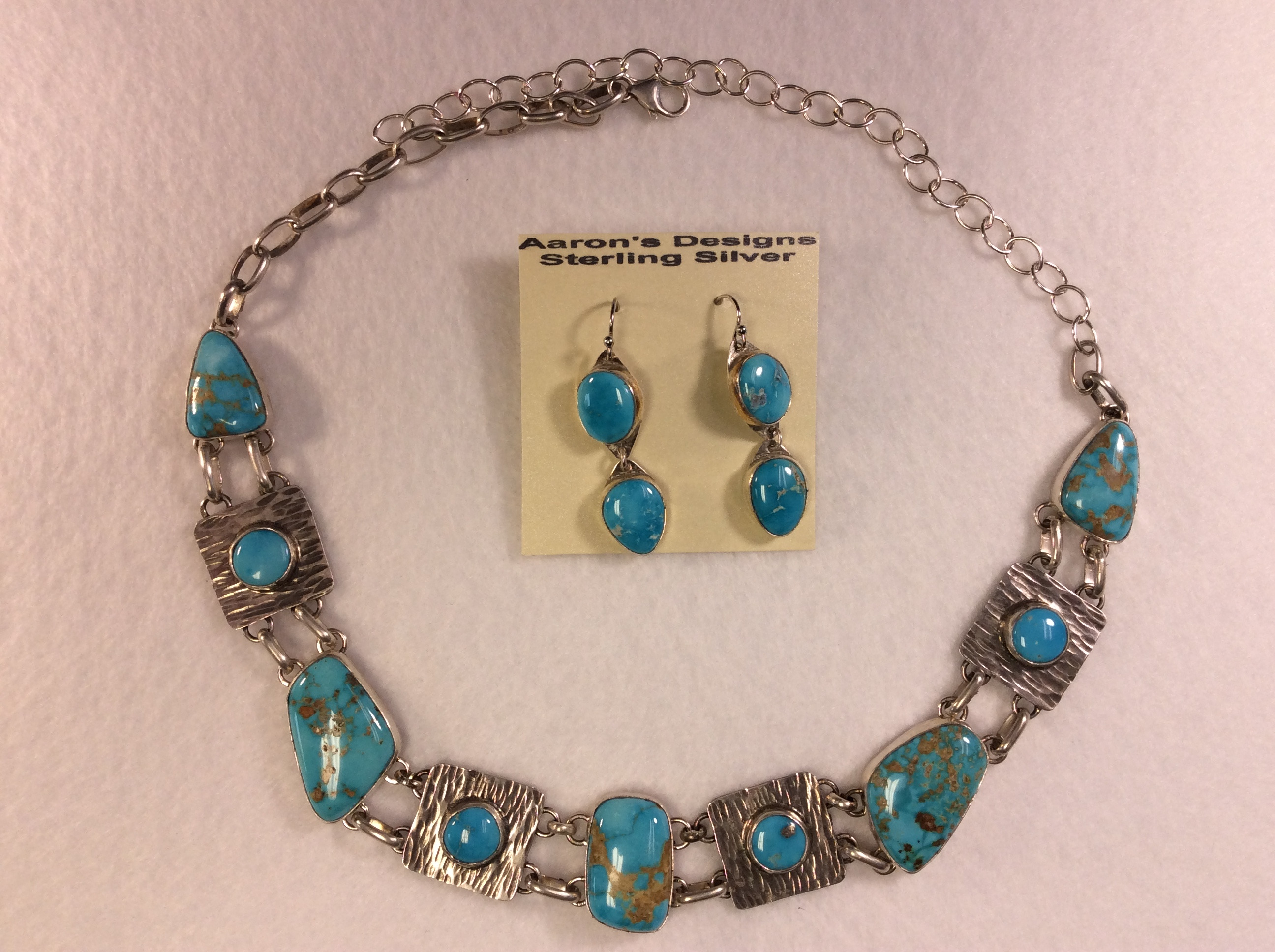 Turquoise necklace and earing set