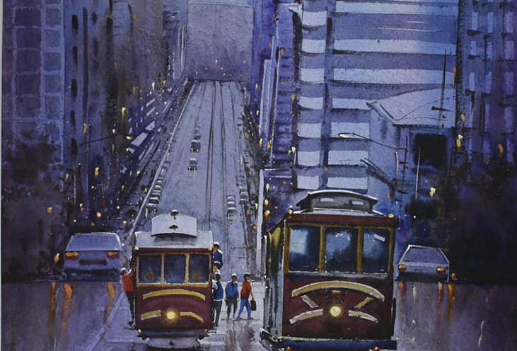 Street To Cathedral Hill (Giclee prints only)