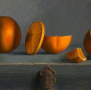 Oranges on a Box