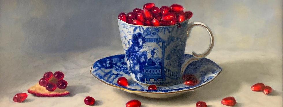 Pomegranate Seeds in a Tea Cup