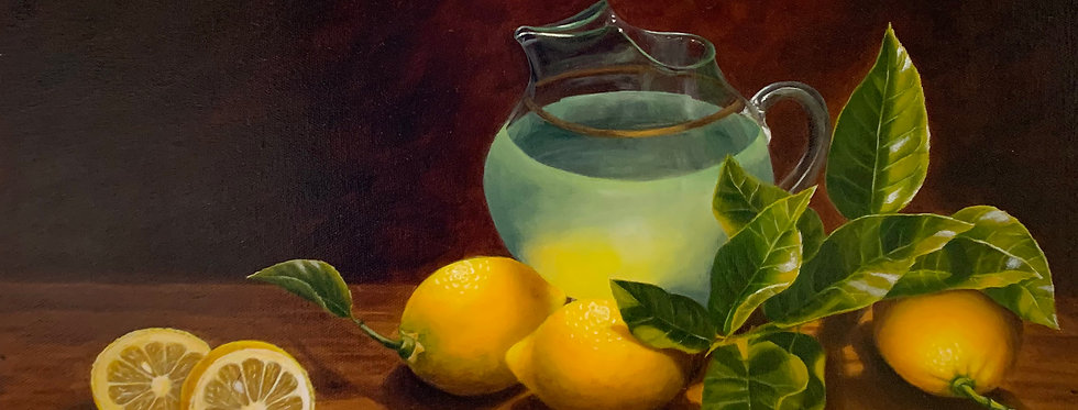 Lemons and Water Pitcher