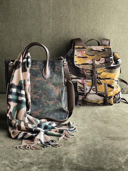 Burberry  Brookdale Camo-Print Backpack,