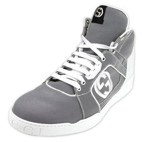Gucci Men's Nylon Black & White High-top Sneakers