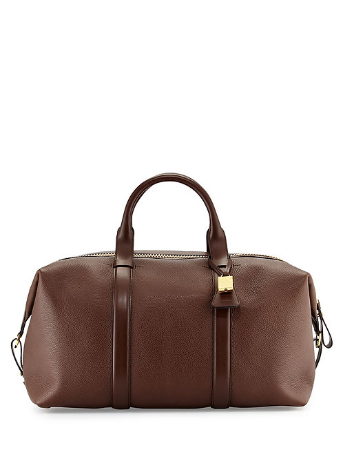 TOM FORD  Buckley Large Leather Duffle Bag, Brown