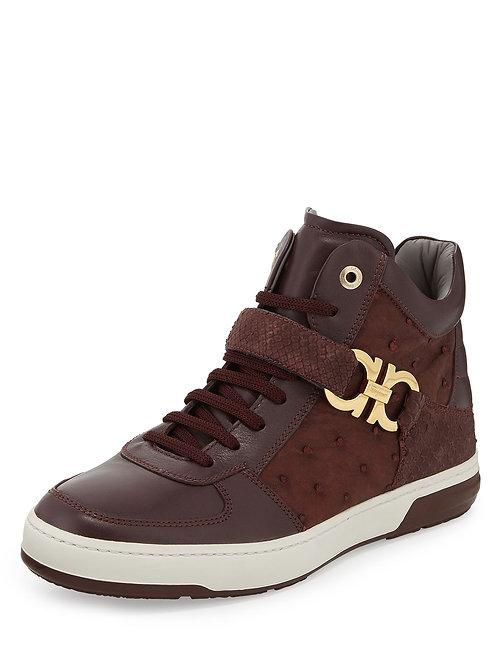 Salvatore Ferragamo Nayon Men's Exotic Sneaker
