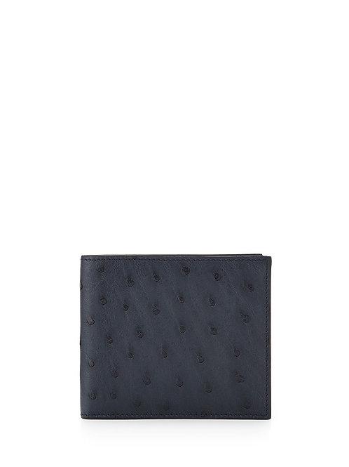 Prada  Ostrich Bi-Fold Wallet