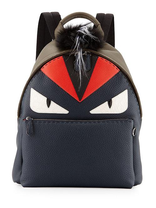 Fendi  Monster Backpack with Fur Crest