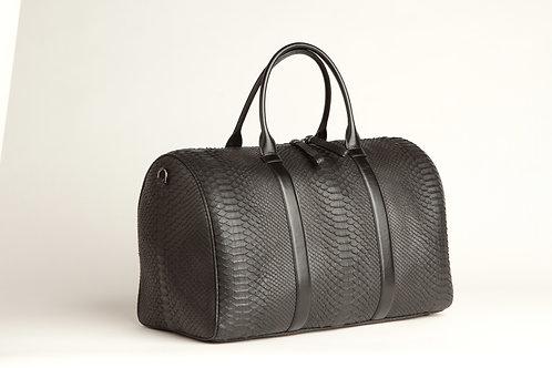 """Chateau de Laquant """"BLACK CAVIAR"""" Python Bag"""