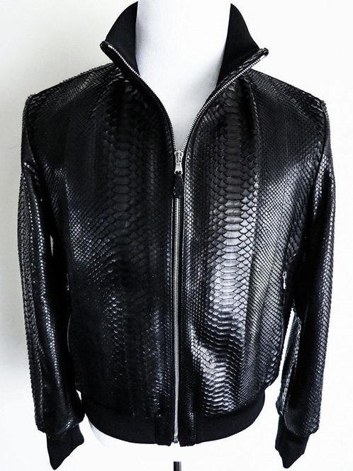 Chateau de Laquant Python Bomber Jacket (Black)