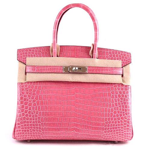 Hermes Birkin Crocodile Pink Rose 30cm