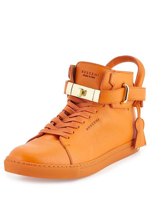 Buscemi  100mm Leather High-Top Orange