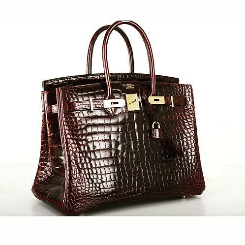 Hermes Birkin Crocodile Burgundy 30cm handbag