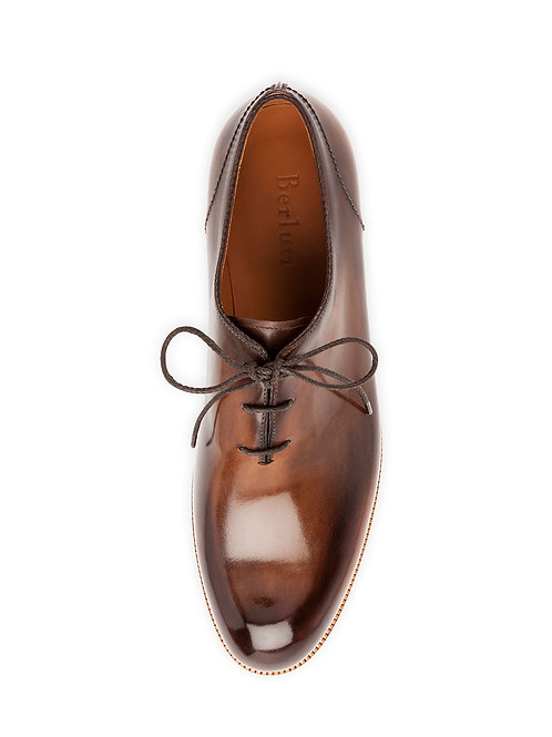 Berluti Alessio Lace-Up Oxford Shoe, Tobacco