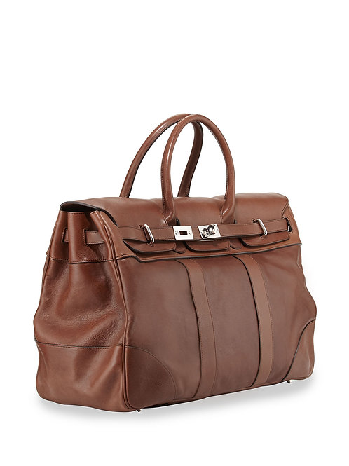 Brunello Cucinelli Calf Leather Country Bag