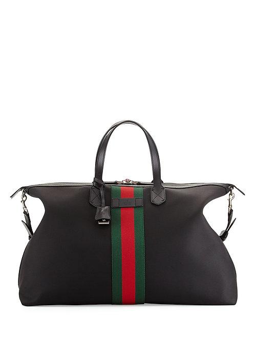 Gucci  Techno Canvas Duffel Bag, Black