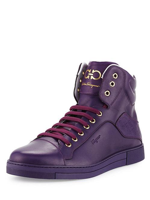 Salvatore Ferragamo Stephen 2 Purple Rain High-Top