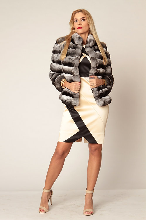 Chateau de Laquant Chinchilla Fur Bolero Jacket