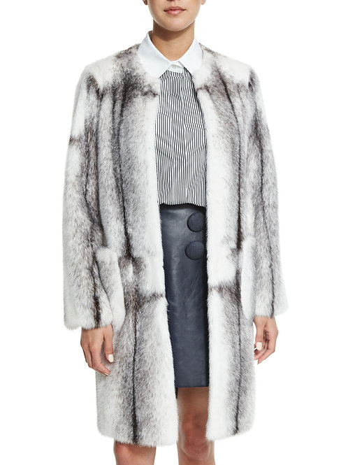 Adam Lippes  Mink Fur Long CoatMink Fur Long Coat,