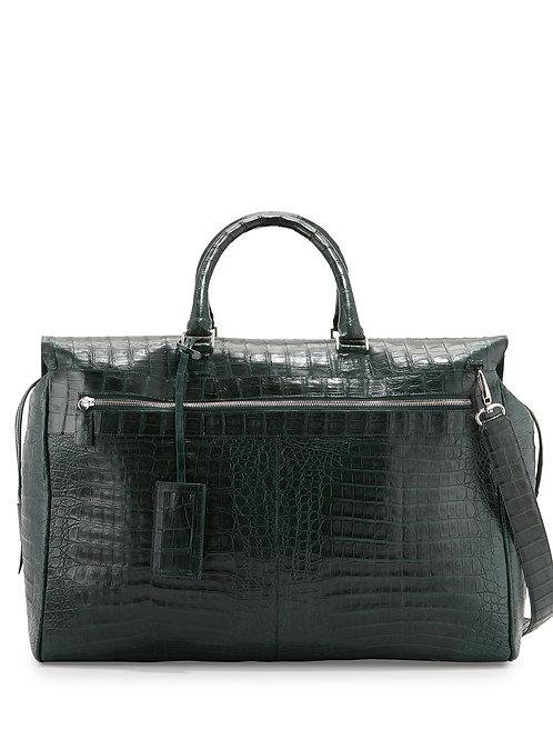 Santiago Gonzalez Caiman Crocodile Duffel Bag