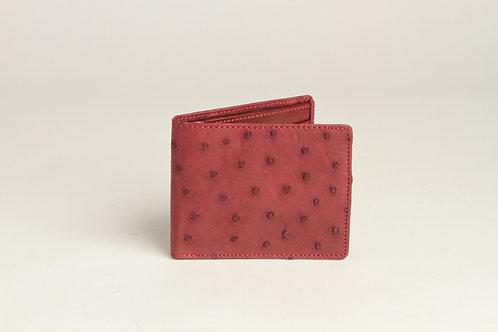 Chateau de Laquant Ostrich Bi-fold Wallet