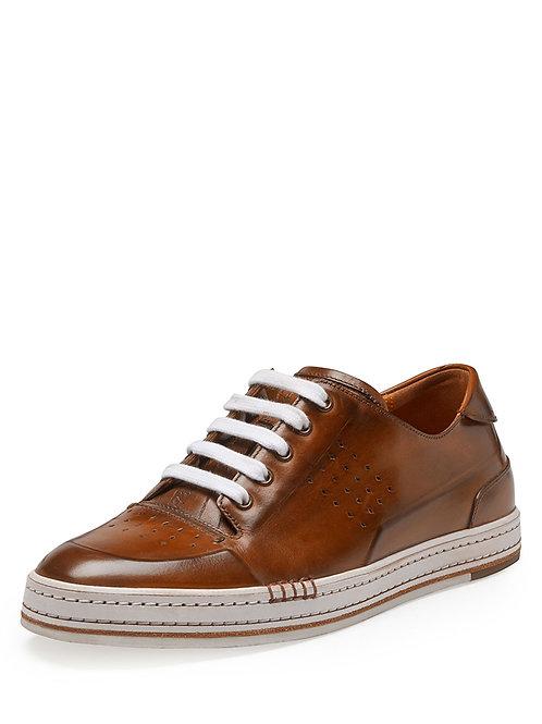 Berluti Playtime Leather Sneaker (Brown)