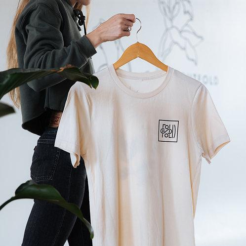 Unisex Floral Back Logo Tee