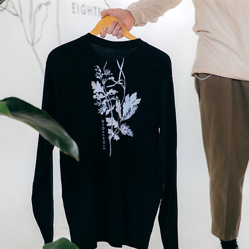 Long sleeve floral logo t-shirt
