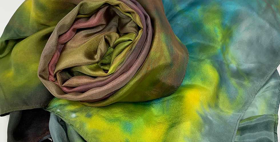 Silk Scarf - Handpainted 22""