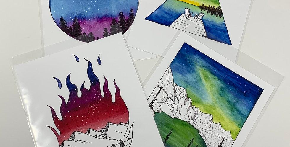 """Watercolour Prints 5.5"""" x 7"""""""