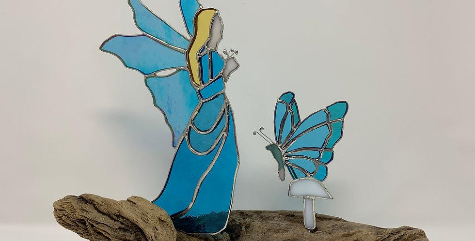 Garden Faerie - Blue and Butterfly