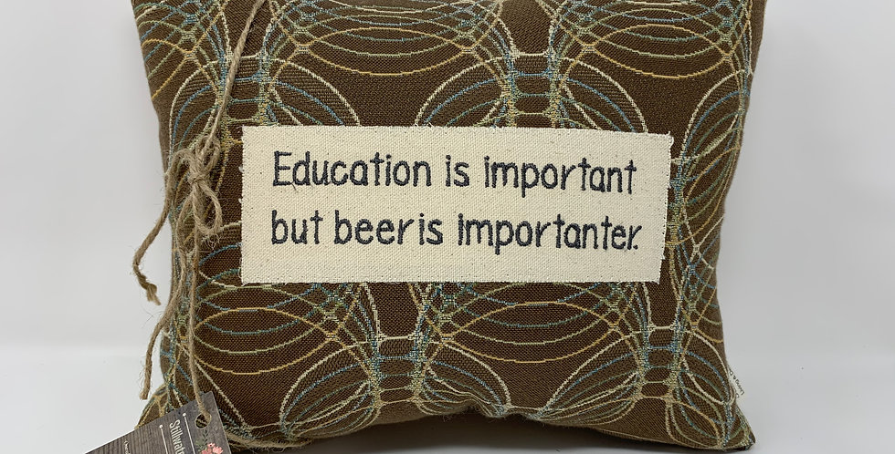 "11""x14"" Pillow - Beer is Importanter"