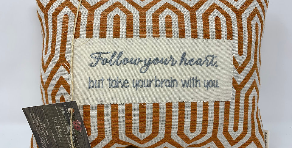 "11""x14"" Pillow - Follow Your Heart"