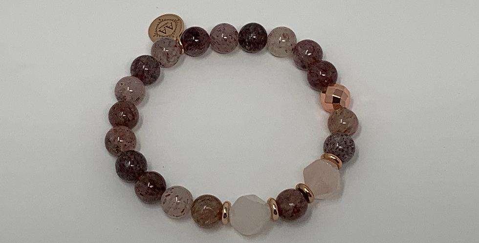 Rose Quartz w/Hematite