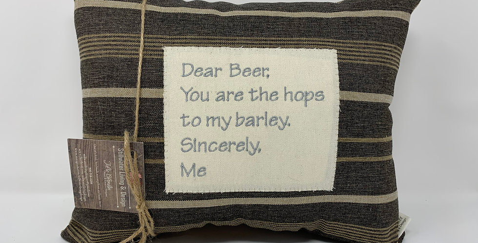 "11""x14"" Pillow - Dear Beer"